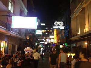 Silom Soi 4 on a Saturday night.