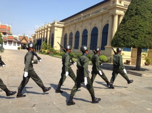 Some marching guards that passed me on my way out of the palace grounds.