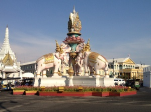 Monument that serves as a roundabout near the palace - taken before I was on the motorbike!
