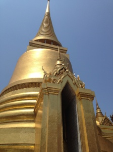 Phra Sri Ratana Chedi - one of the shrines covered in gold mosaic