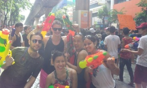We took to the streets with our own arsenal of water guns.