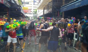 The water fights were raging in Silom Soi 4.