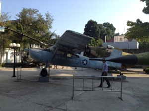 USA war plane outside the museum.