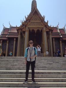 Myself standing in front of Prasat Phra Thep Bidon, the Royal Pantheon