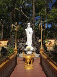 One of the more solemn shrines at the temple.