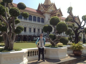 Myself  in front of the Grand Palace.