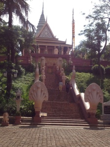 The temple of Phnom Wat, my first and only stop of the day.