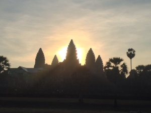 Sunrise over Angkor Wat.