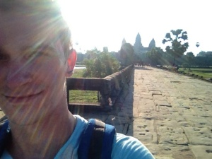 Sunrise selfies at Angkor Wat.