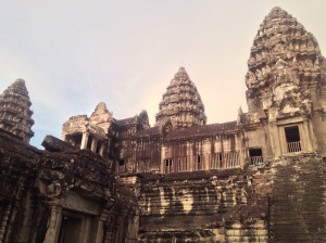Angkor Wat in the light of the sunset.