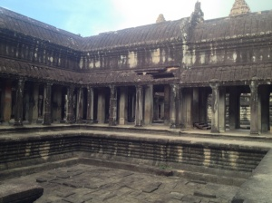 Inside the main Angkor Wat temples.