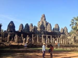 Bayon temple inside Angkor Thom.