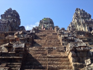 The steep steps of Ta Keo.