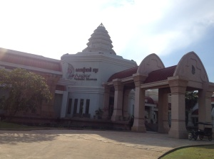 Outside the Angkor National Museum.