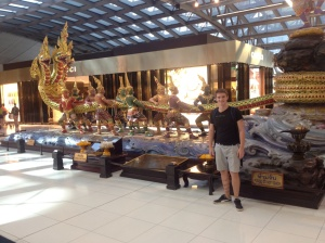 Saying farewell to South East Asia at Suvarnabhumi Airport BKK.