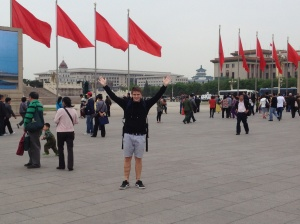 Myself in Tiananmen Square.
