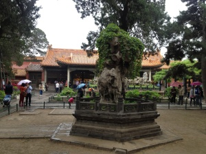 The Imperial Garden inside the Forbidden City.
