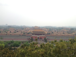 The view of the Forbidden City from Jingshan Park tower.
