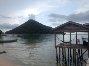 View from the dock at Koh Rong Samelon.