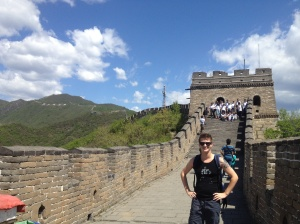 Feeling very proud of myself after claiming the Great Wall of China.