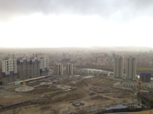 View of Ulaanbaatar from Zaisan Monument.