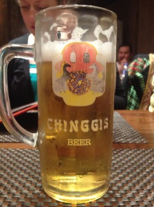 "When we ordered a draught beer, the waiter asked ""Big Chinggis?"" We nodded enthusiastically."