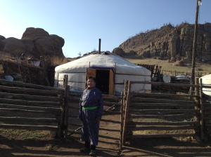 The ger of the Mongolian woman who we paid a visit to.