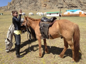 Oko tending to my horse just after I dismounted.
