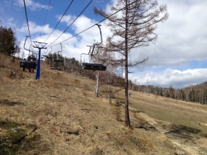 Chairlift up the hill.