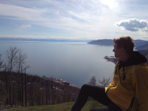 Me looking pensively out across Lake Baikal.