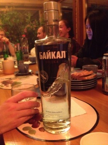 The local vodka featured heavily during our stay at Lake Baikal.