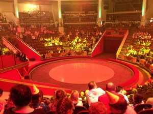 The circus ring before the show started.