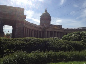 The Kazan Cathedral - I struggled to get a shot of the building in its entirety, it was so wide.