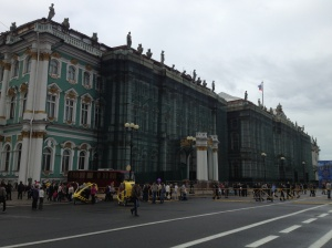 Outside the Hermitage.
