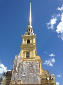 The Peter and Paul Cathedral inside the main fortress.