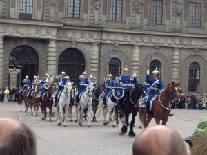 The horseback band at the Changing of the Guard.