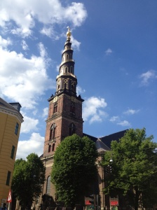 The enchanting tower above the church.