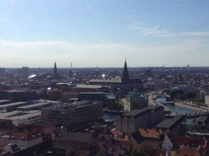 Copenhagen horizon - view from the tower.