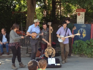 The folk band playing in Christiania.