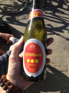 The local brew in Christiania.