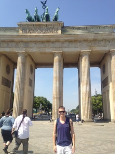 In front of the Brandenburg Gate.