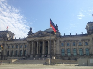 The Reichstag, the parliamentary building which I unfortunately didn't get to enter.