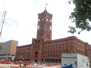 The Rotes Rathaus, or Red Town Hall, near Alexanderplatz.