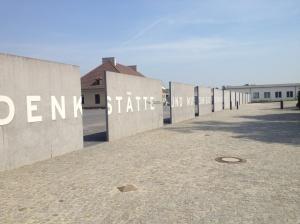 The entrance to the Sachsenhausen Memorial Museum.