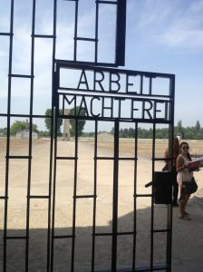 Metal inscription on the main gate.