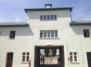 Main gate through which prisoners were escorted.