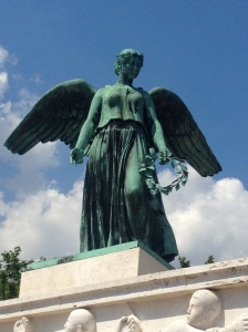 Angel statue called Søfartsmonumentet, or 'Shipping Monument', a tribute to fallen sailors of WWI.