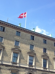 The Danish flag.