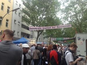 The streets of Schöneburg during pride.