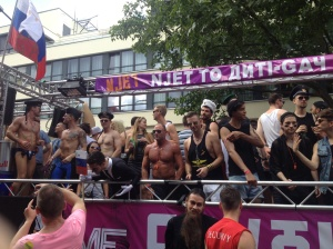 Russian float - proud and naked.